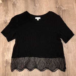 Aritzia Wilfred Lace Trim Shirt Size XS